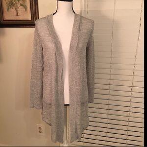 Sweaters - Heather Gray Knit Cardigan